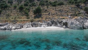 Makria Petra Beach or the Blue Lagoon