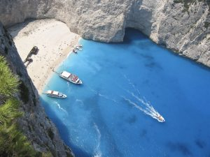 zante ship wreck beach